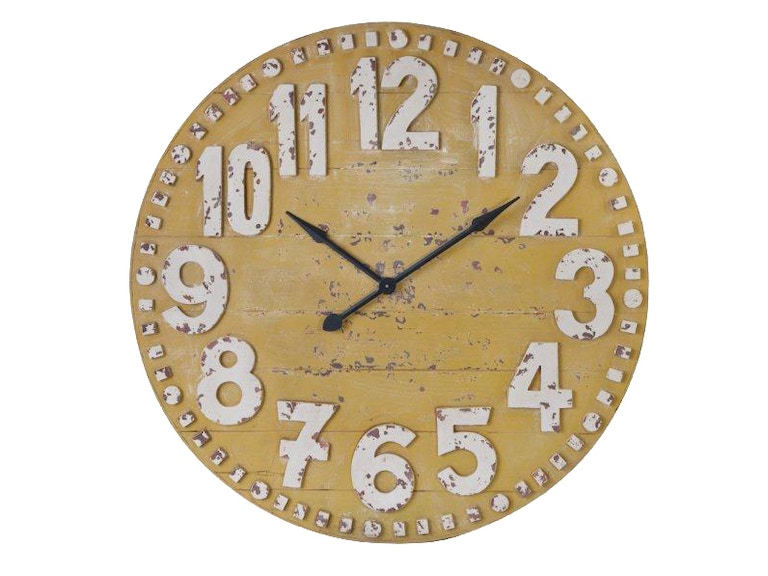 Foreside Home & Garden Yellow Clifford Clock 501756