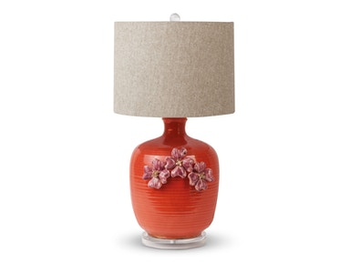 Foreside Red Ceramic Table Lamp 534006