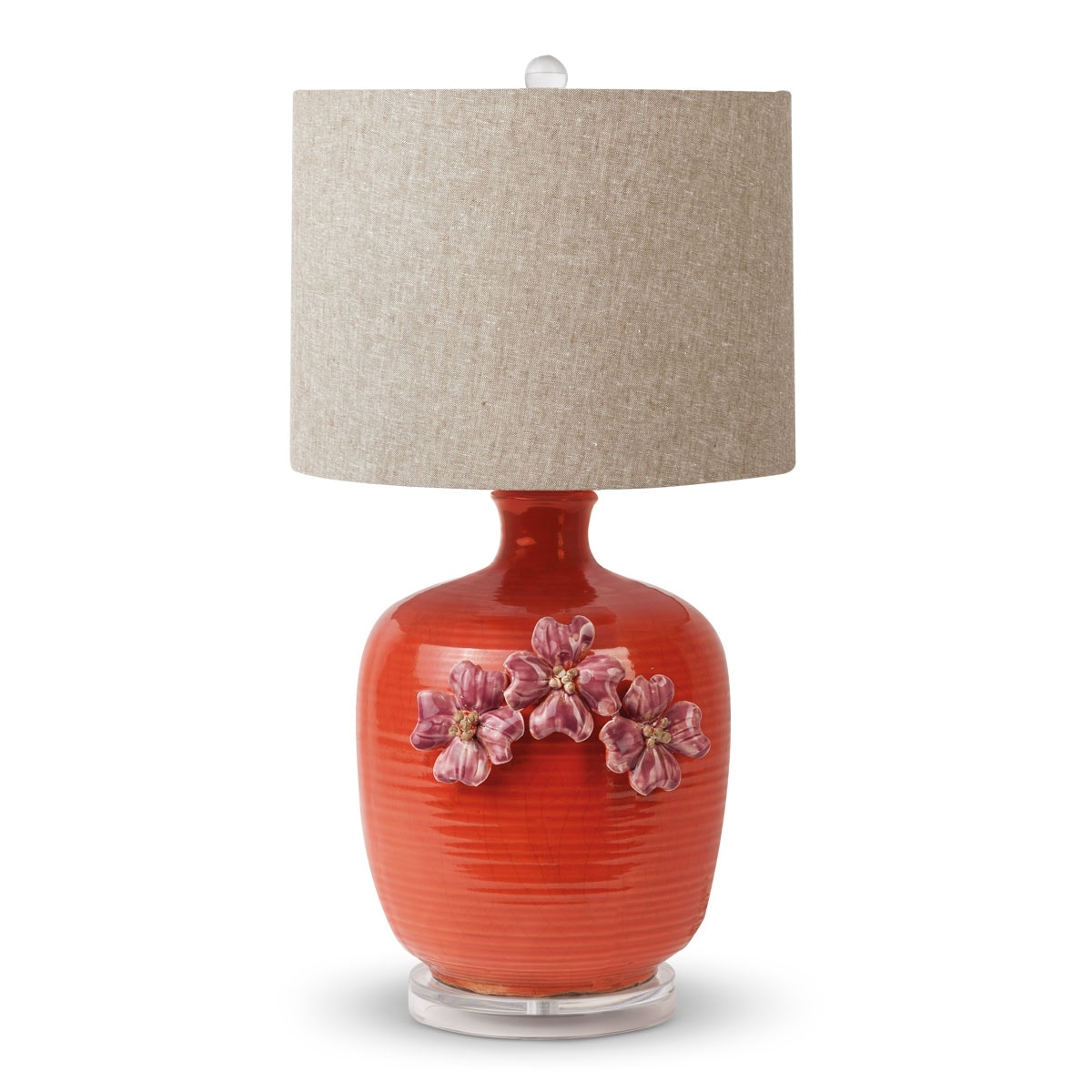 Awesome Foreside Red Ceramic Table Lamp 534006