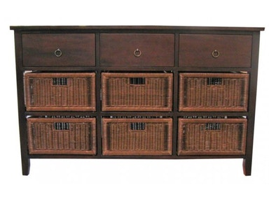 New Pacific Direct Java Basket Console 480605
