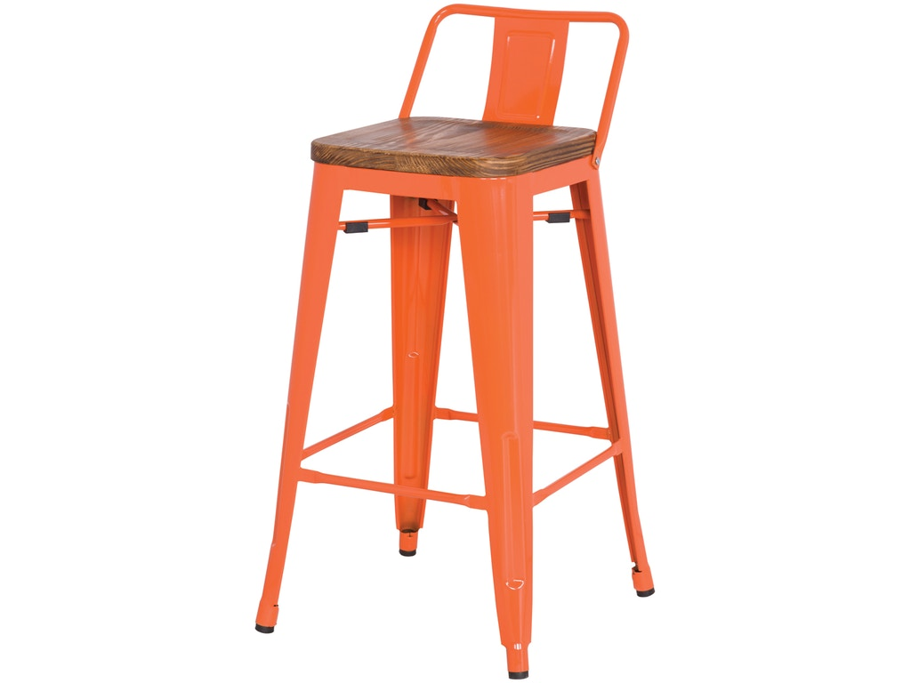 New Pacific Direct Dining Room Orange Wood Seat Stool 501854 At Kittles Furniture