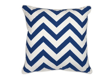 Imax Blue Chevron Pillow 510550