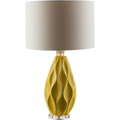Attractive Surya Rugs Bethany Mustard Table Lamp 534239
