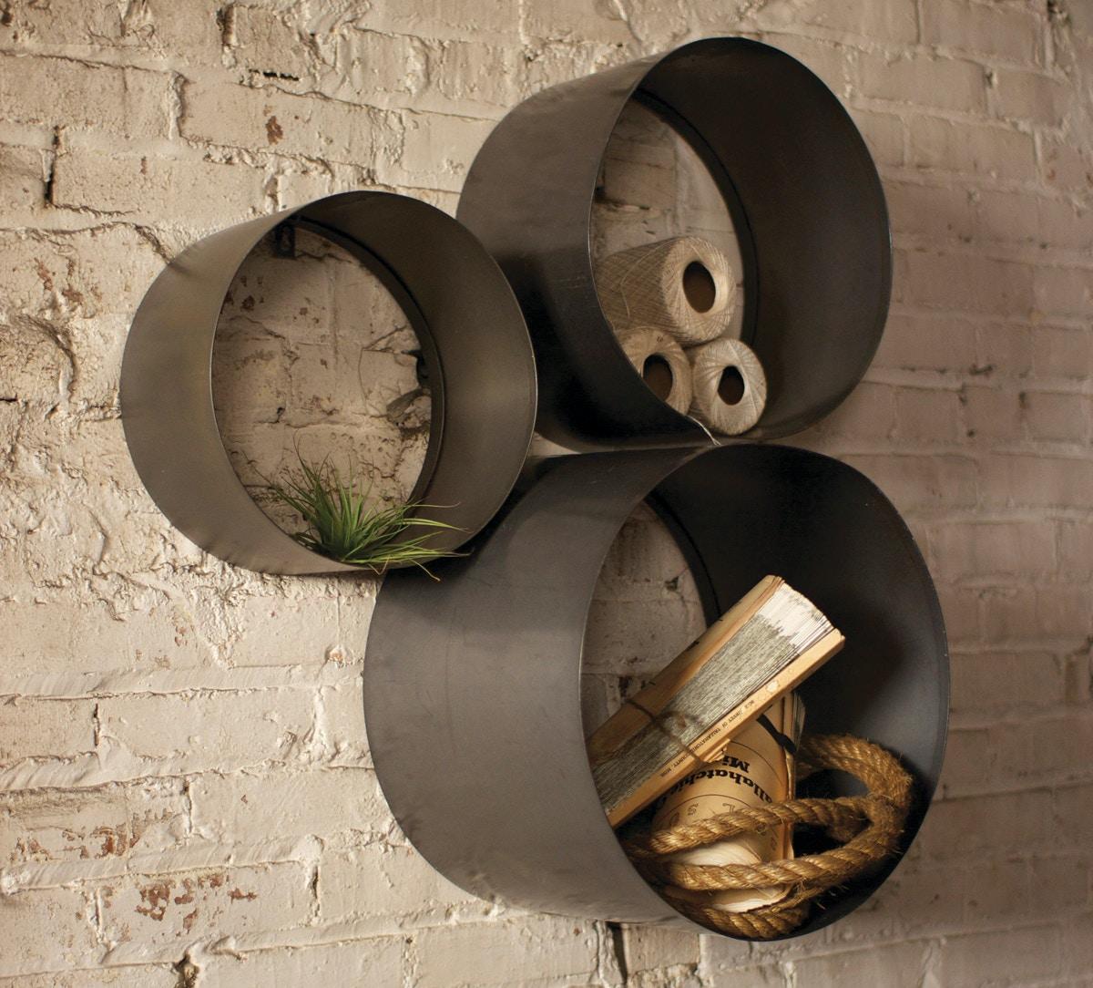 Kalalou Accessories Set Of 3 Cylinder Cubbies 498640   Kittleu0027s Furniture    Indiana