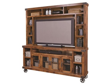 "aspenhome Industrial 84"" Console and Hutch G66235"