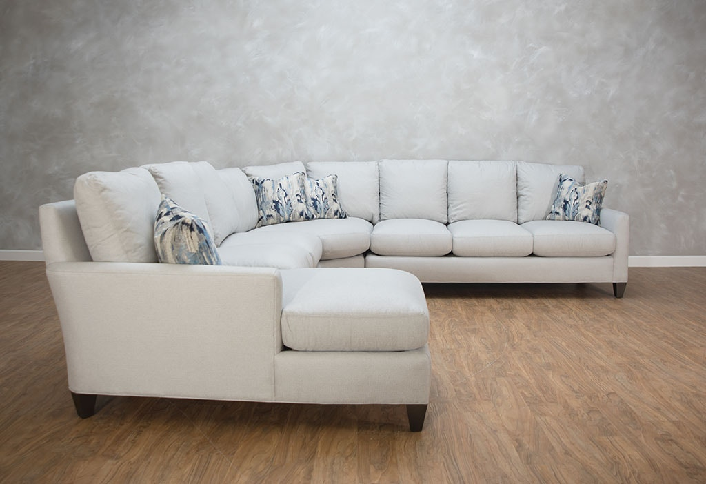 Hickory White Living Room Features 4 Piece Sectional