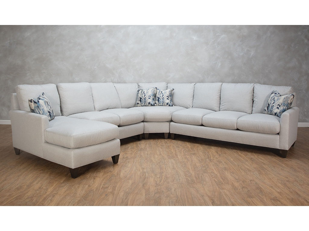 Hickory white living room features 4 piece sectional for 4 piece living room furniture