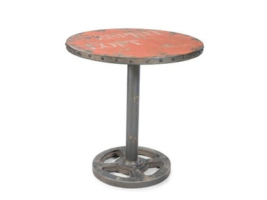 Moes Home Collection Orange Wheel Table 482640