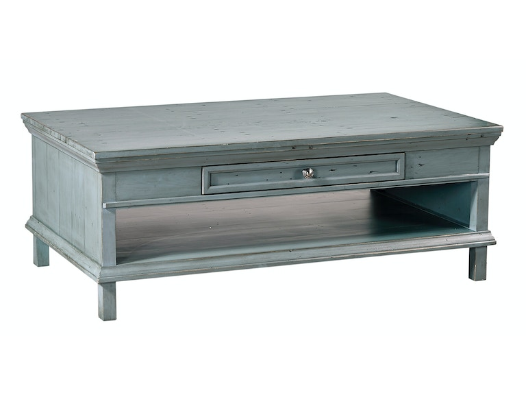 aspenhome Preferences Cocktail Table - Slate Blue 539970
