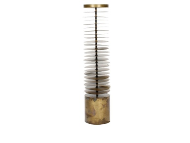 Gold Leaf Design Group Discus Candle Tower 522134