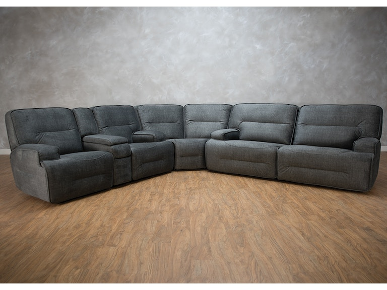 Easy Living Motion Living Room Jesse 3 Piece Reclining Sectional ...