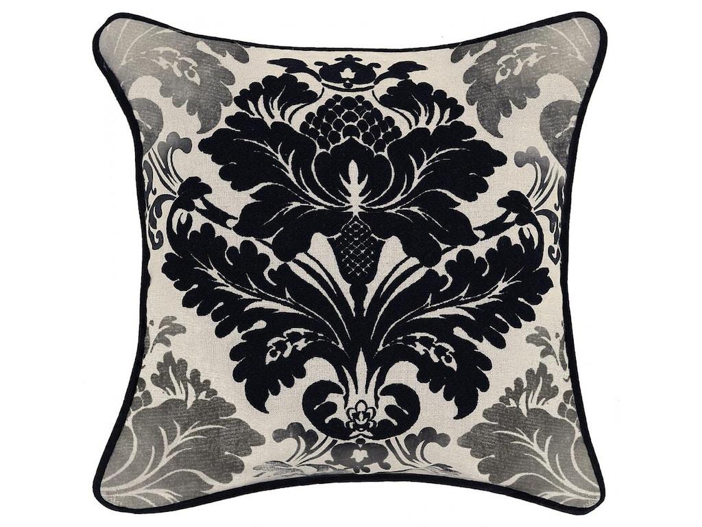 Classic Home Accessories Carolyn Black Pillow 18 X 18