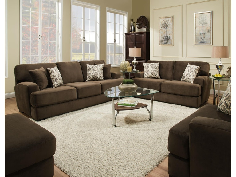 Albany Argos Coffee / Velocity Pewter Sofa 7446960
