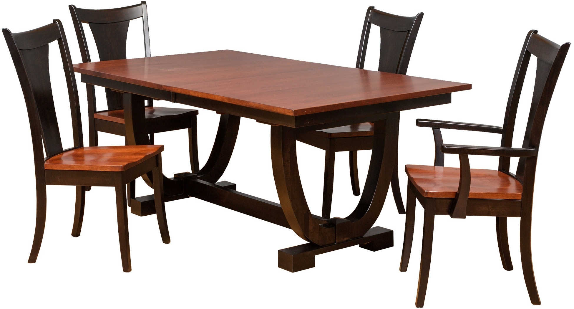 daniel u0027s amish table and 8 chairs 42722 fal9pc gustafson u0027s