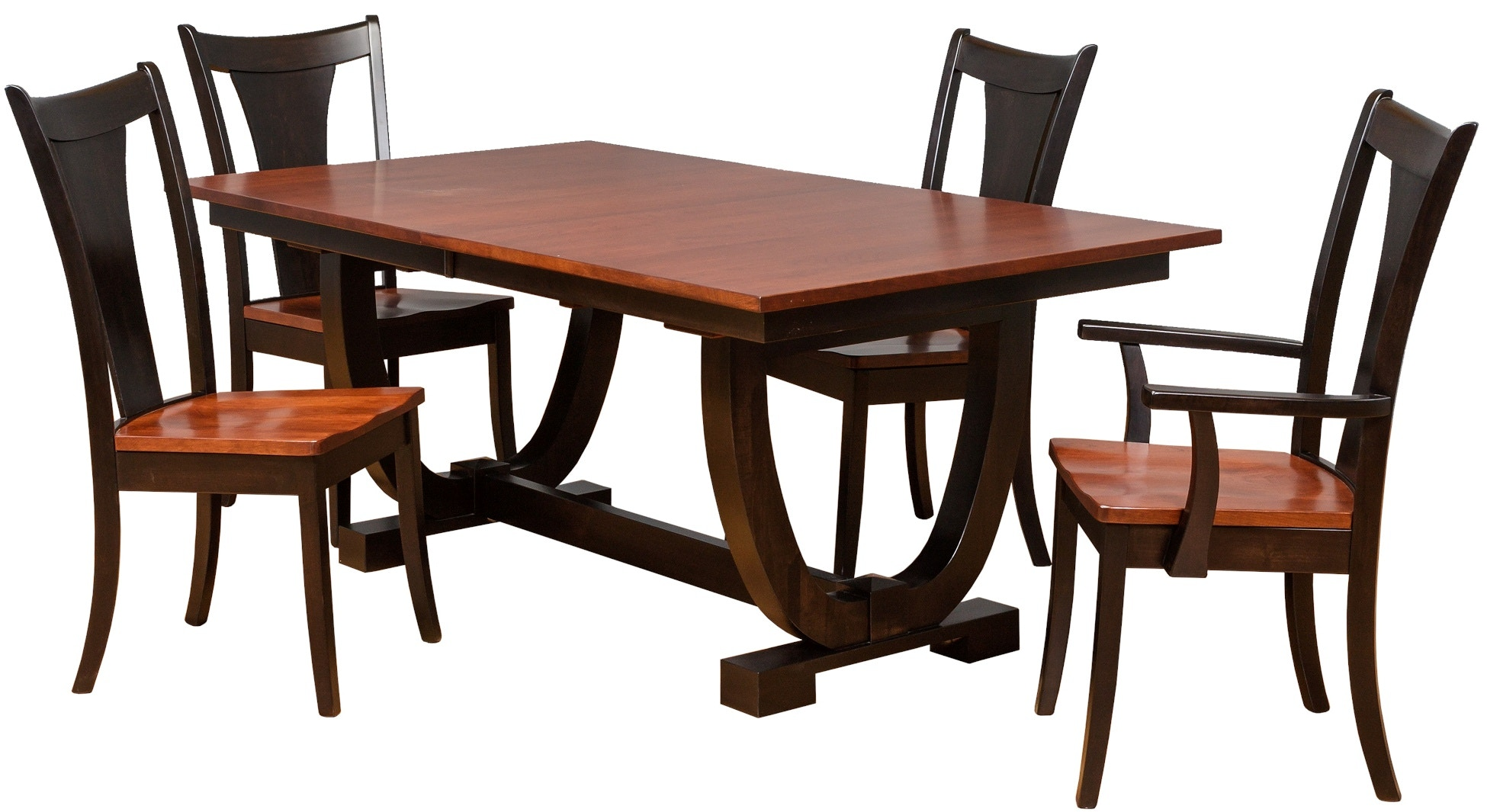 Danielu0027s Amish Table And 8 Chairs 42722 FAL9PC
