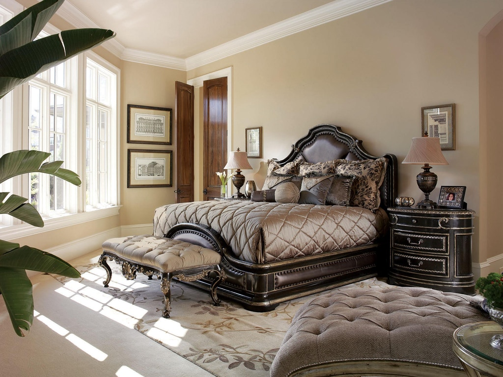 Marge Carson Bedroom Furniture Marge Carson Bedroom Piazza San Marco Bed Psm11 1 Noel Furniture