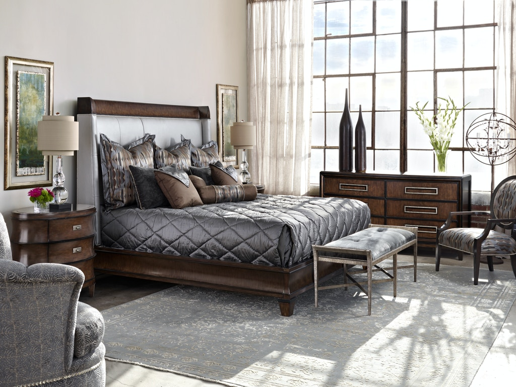Sonoma Bedroom Furniture Marge Carson Bedroom Sonoma Sleigh Bed Sna81 Noel Furniture