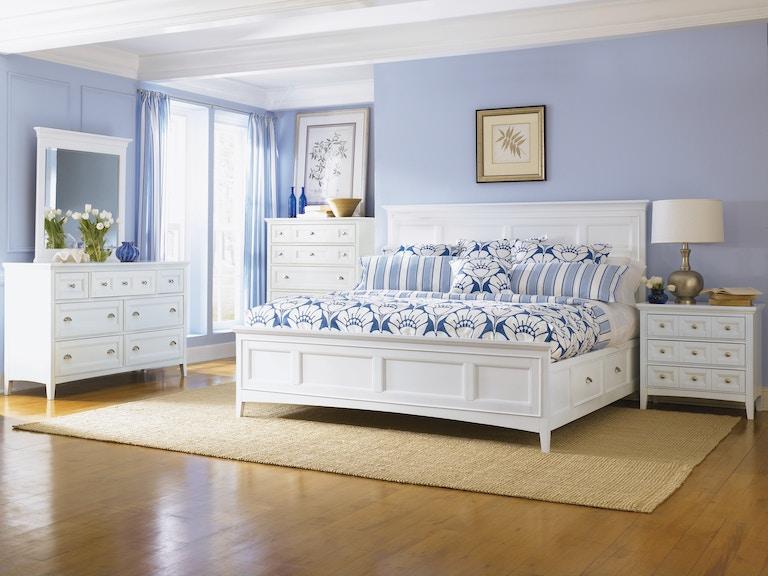 Magnussen Home White Bedroom Set White with Nickel Pulls - Hansens ...