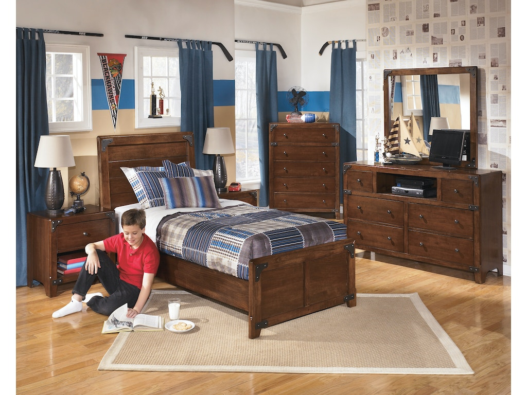 Hansen 39 s exclusives youth bedroom suite rustic woody feel hansens furniture modesto and for Rustic bedroom furniture suites