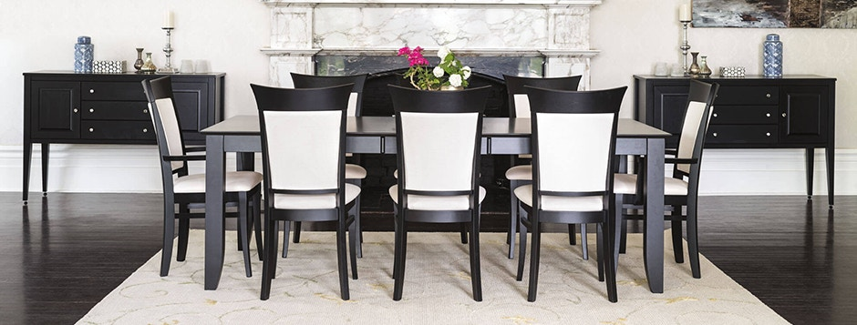 Canadel Custom Formal Dining Room Furniture Table And Chairs
