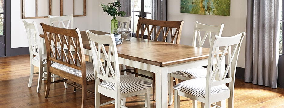 Incroyable John Thomas Custom Hardwood Farmhouse Casual Dining Room Table And Chairs