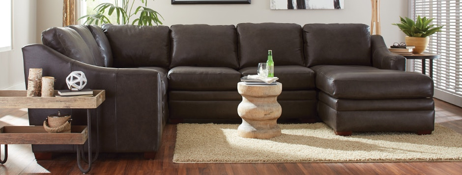 Craftmaster F9 Customizable Leather Sectional