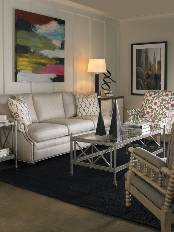 Clarke Fabric Sectional Sofa Living Room: Vanguard #648-S Gutherly Sofa
