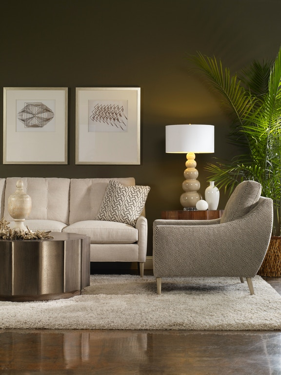 Vanguard Living Room Furniture: Vanguard Living Room Lydia Button-Back Sofa V963-S