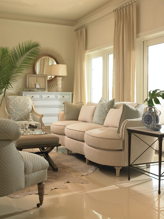 Vanguard Living Room Furniture: Vanguard Living Room Lytton Ottoman V053P-OT