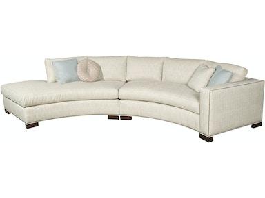 Vanguard Living Room Bennett Left Right Arm Curved Sofa