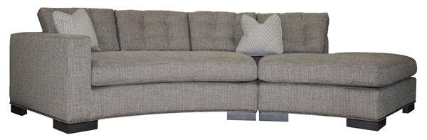 Vanguard Furniture Bennett Left Arm Curved Button Sofa W180B LAJ