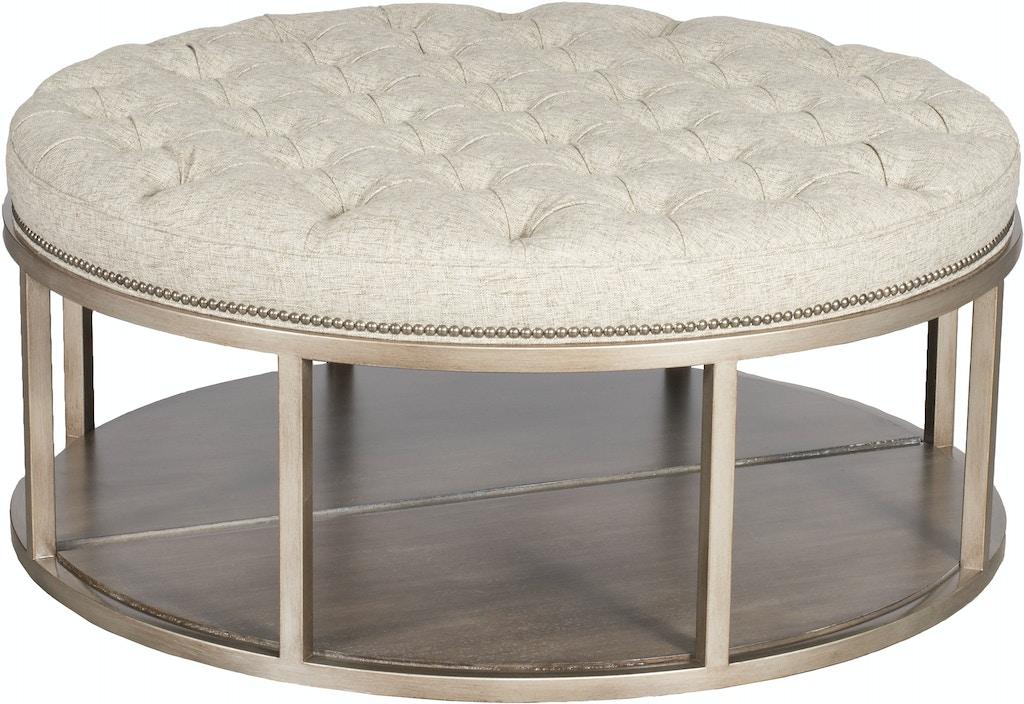 Pleasing Vanguard Living Room Wayland Round Metal Ottoman W42Dmkd Evergreenethics Interior Chair Design Evergreenethicsorg