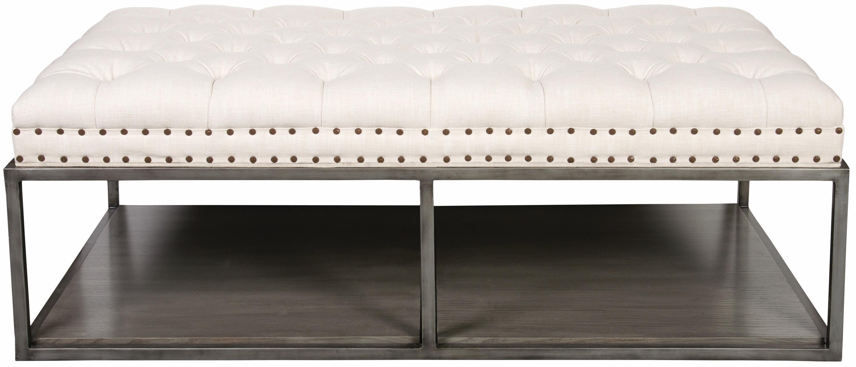 Ordinaire Vanguard Furniture Wayland Large Rectangular Metal Ottoman W58LMKE