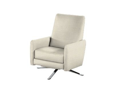 American Leather Recliner Chair BLK REC ST