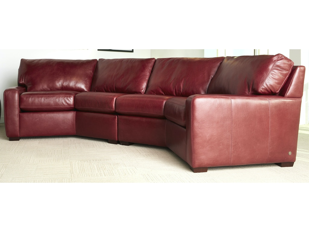 American Leather Living Room Carson Sectional Treeforms Furniture Gallery Anchorage Ak
