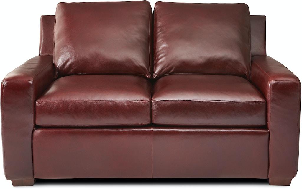 Excellent American Leather Lis Lvs St Living Room Two Cushion Loveseat Short Links Chair Design For Home Short Linksinfo