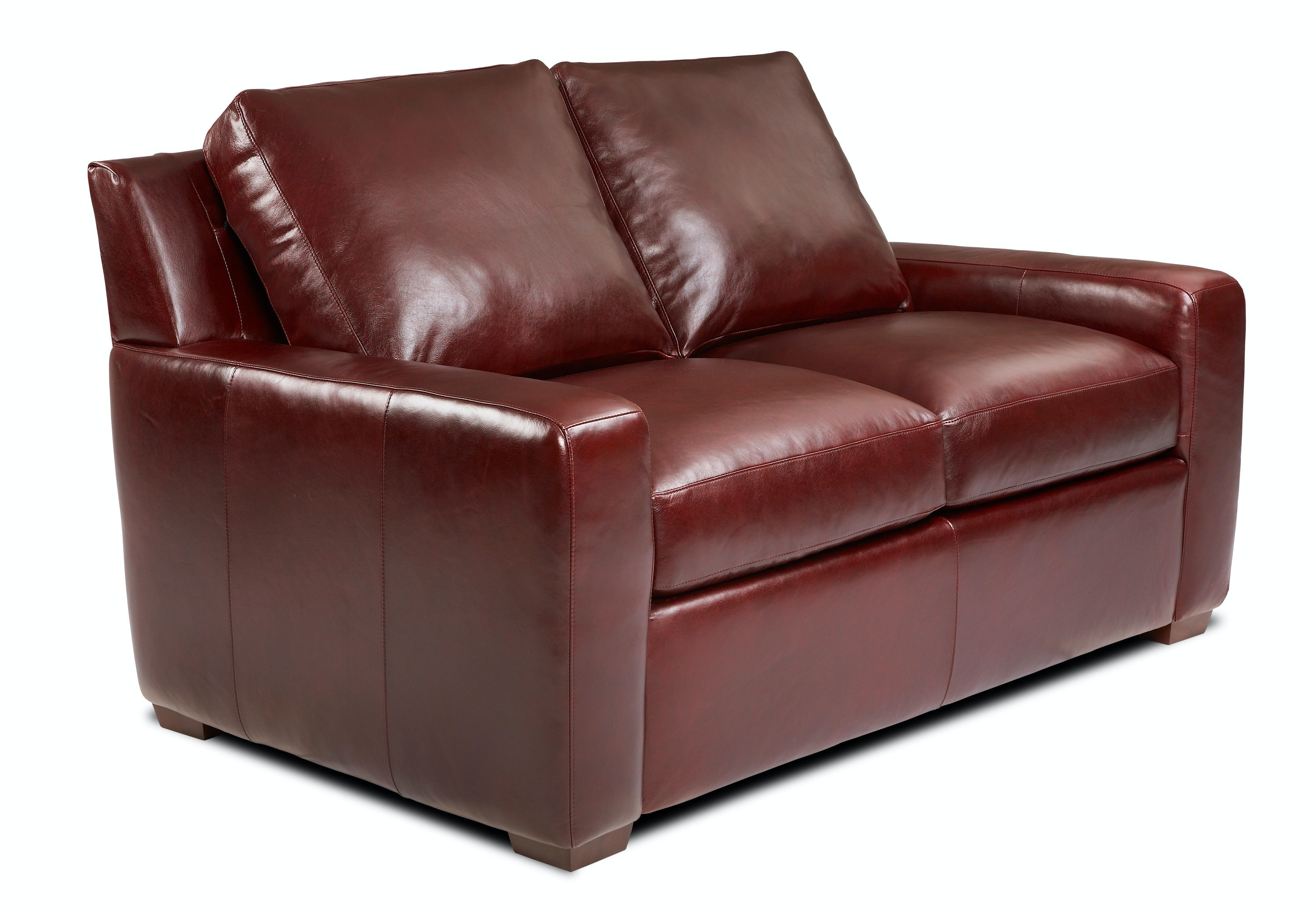 American Leather Living Room Two Cushion Loveseat Lis Lvs St