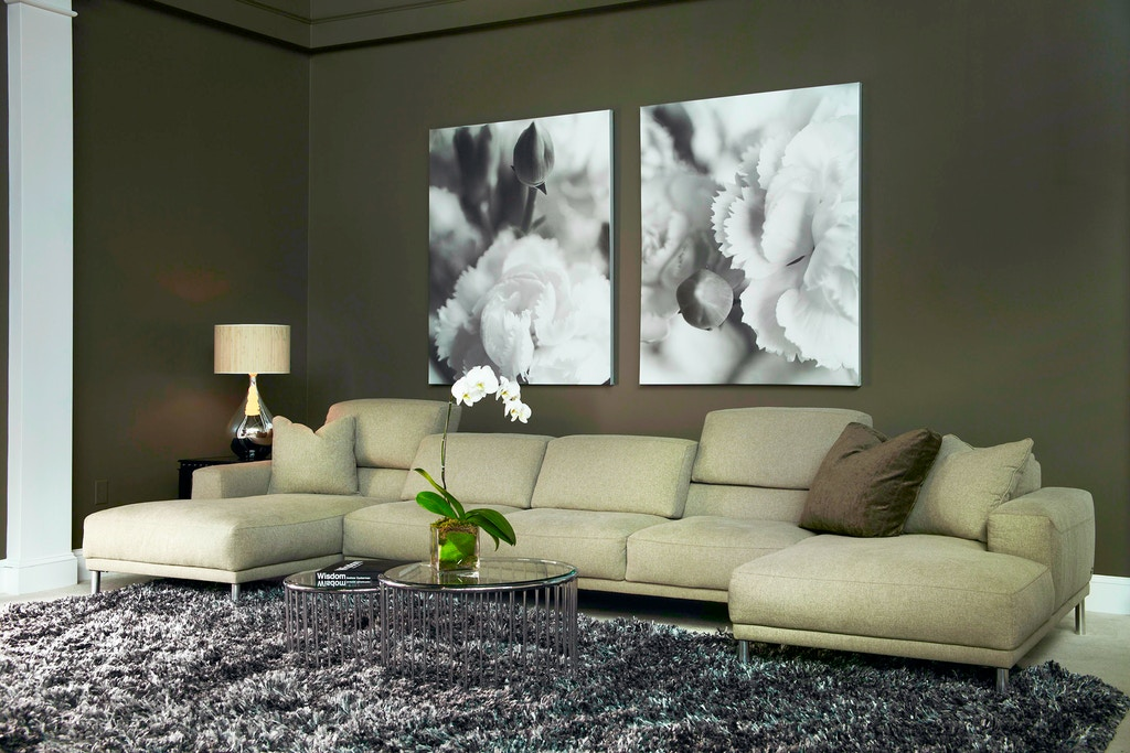 American Leather Living Room Meyer Sectional Gallatin