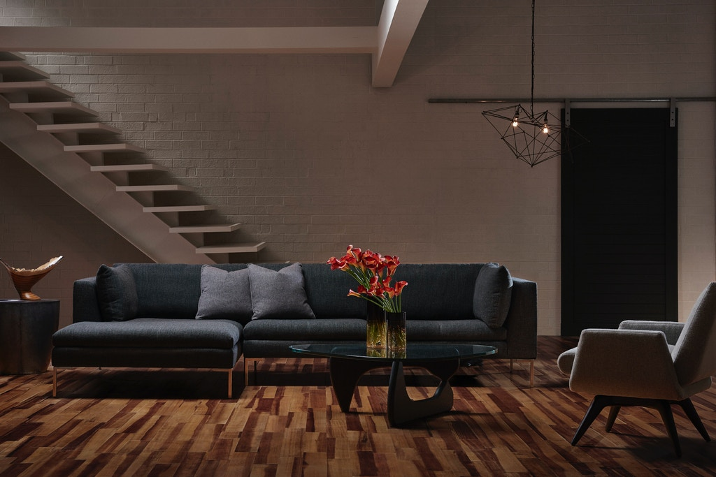 seattle cognac leather sofa living room modern with large ...