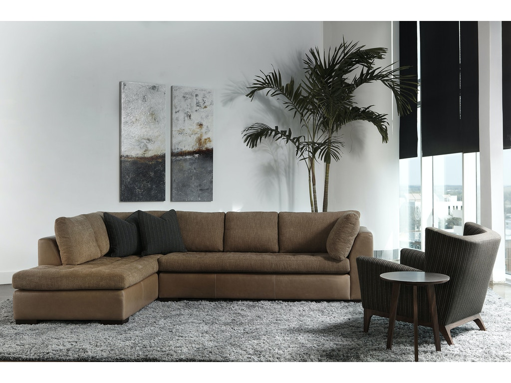 American Leather Living Room Astoria Sectional Bartlett