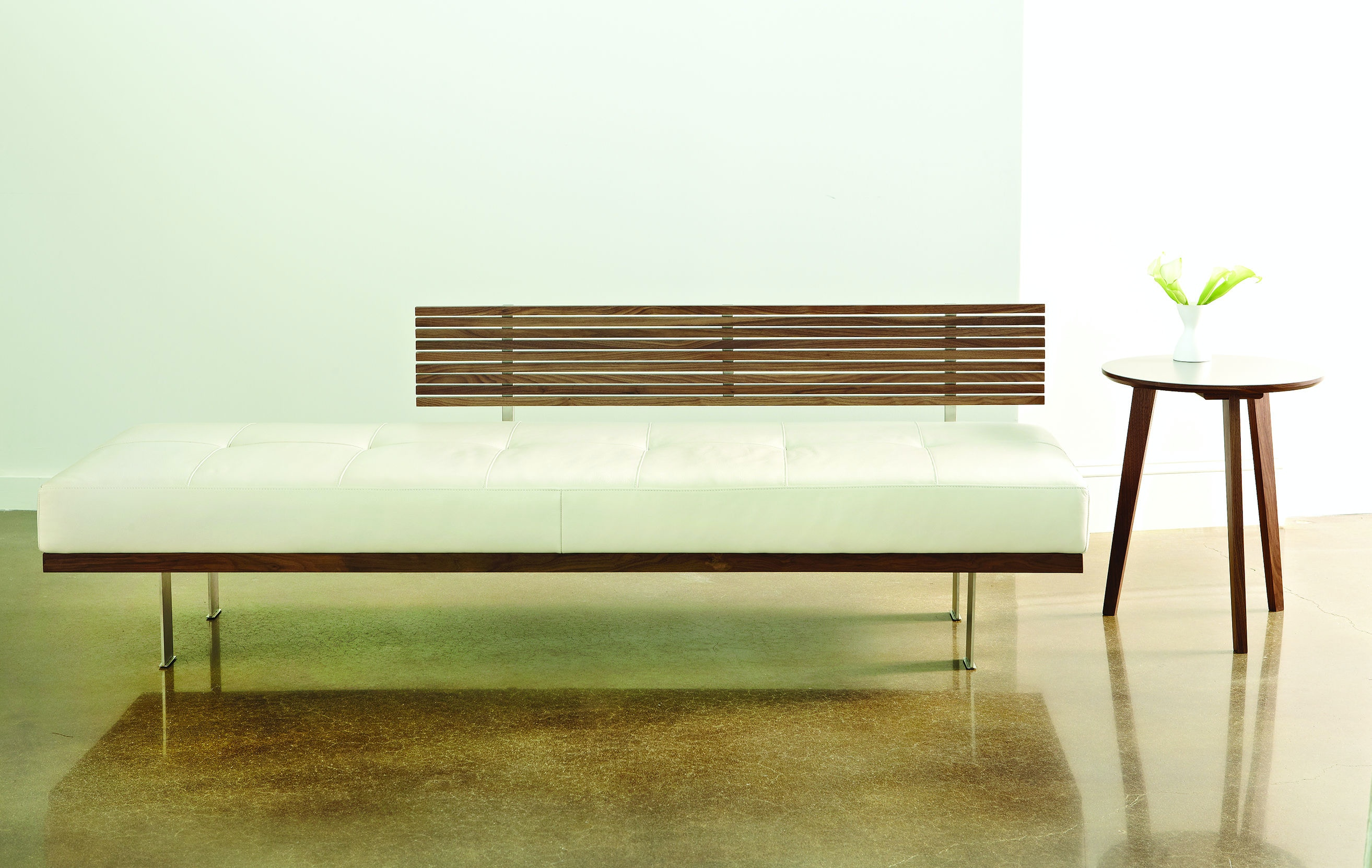 American Leather Knox Bench KNX DAY RA From Walter E. Smithe Furniture +