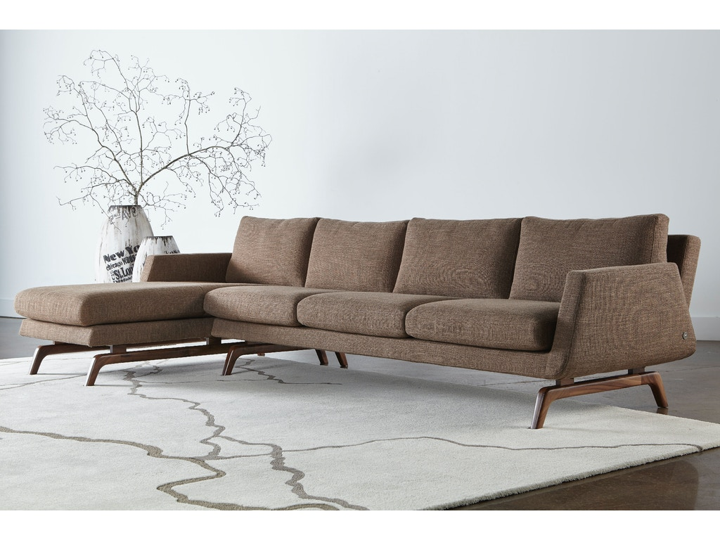 American Leather Living Room Nash Sectional Mcarthur