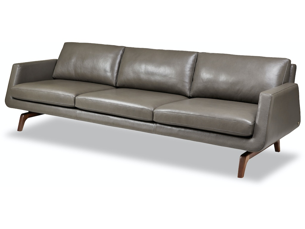 American leather living room nash three cushion sofa nsh for American furniture leather sectional