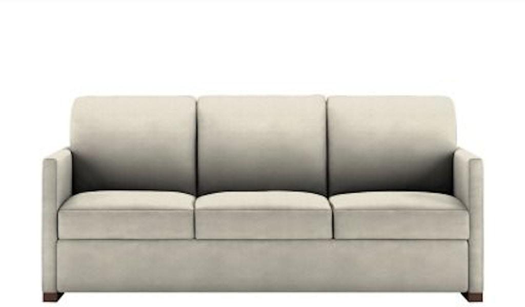American Leather Pea So3 Ks Living Room Three Cushion Sofa