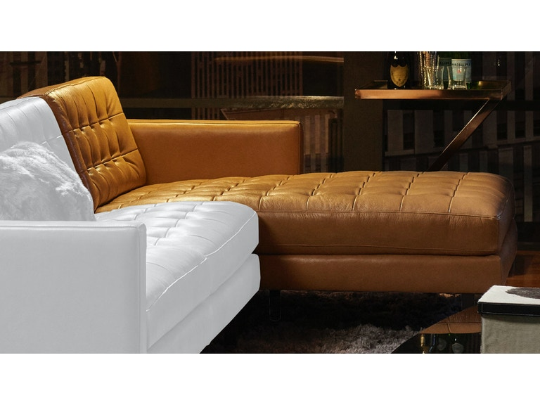 Fine American Leather Living Room Left Arm Seating Chaise Pkr Sch Evergreenethics Interior Chair Design Evergreenethicsorg