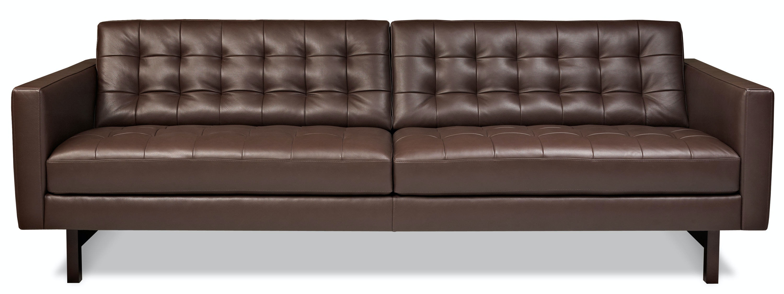Great American Leather Two Cushion Sofa PKR SM2 ST