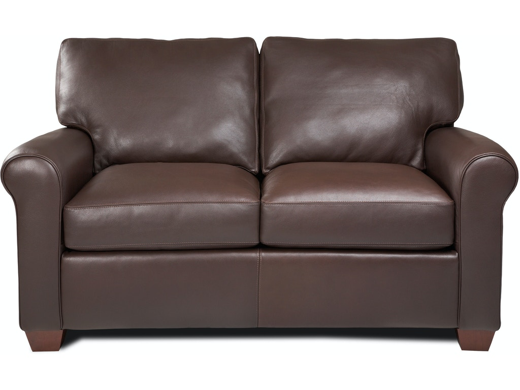 American leather living room loveseat svy lvs st art for Leather sofa michigan