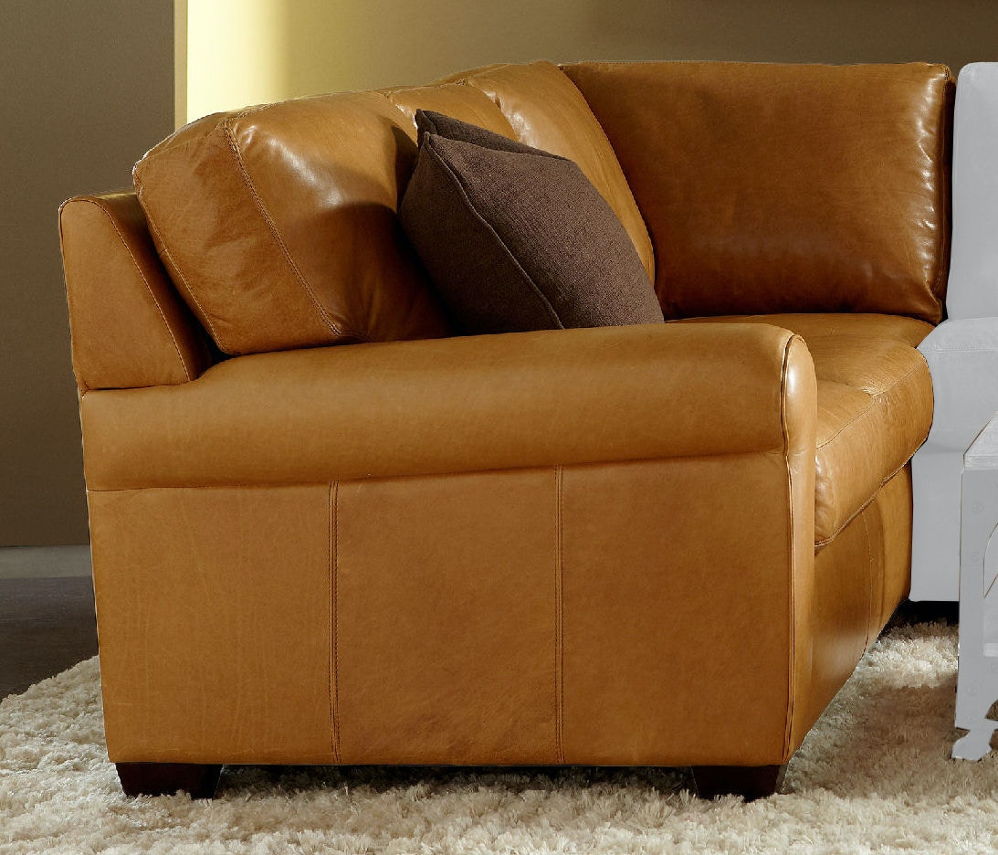 American Leather Living Room Right Arm Seating Square Corner Return Sofa Amlsvysqsra Walter E Smithe Furniture Design