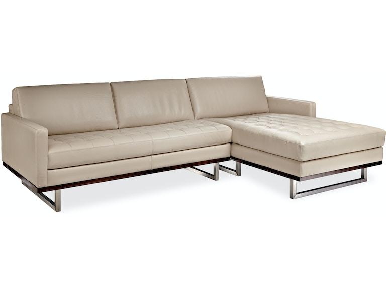 Sensational American Leather Living Room Tristan Sectional Hickory Dailytribune Chair Design For Home Dailytribuneorg