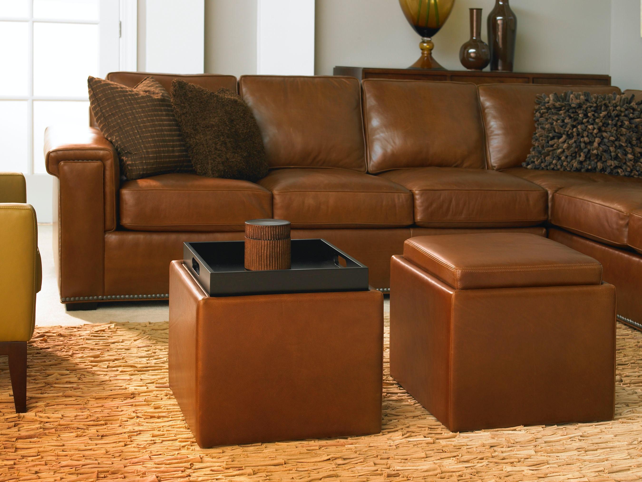 American Leather Uno Oto 18 Living Room Ottoman
